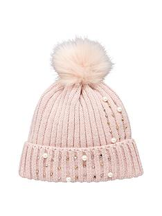 v-by-very-pearl-and-embellished-detail-beanie-blush