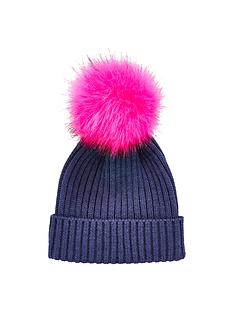 v-by-very-changeable-pom-pom-beanie-navy