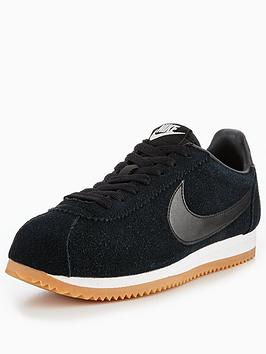 Classic Cortez Trainers In Black Suede - Black Nike 31byGv7s