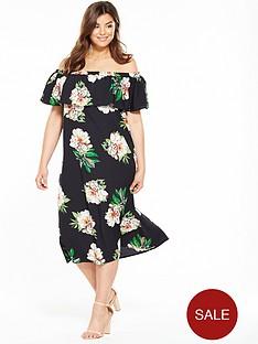 ax-paris-curve-ax-paris-curve-frill-off-the-shoulder-midi-dress