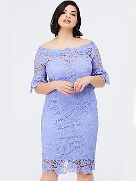 Paper Dolls Curve Bluebell Lace Bardot Dress