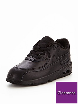 78f7f8befe Nike Air Max 90 Leather Infant Trainers - Black | littlewoods.com