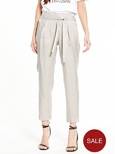 river-island-metallic-taperd-trouser