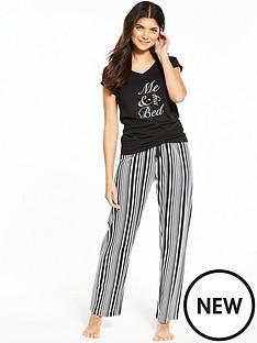 v-by-very-me-amp-my-bed-black-stripe-pj-set