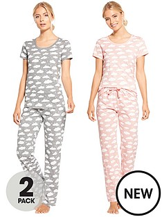 v-by-very-2-pack-cloud-print-short-sleeve-pj-set
