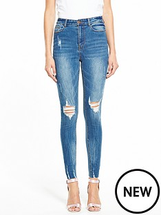 v-by-very-ella-high-waist-rip-raw-hem-skinny