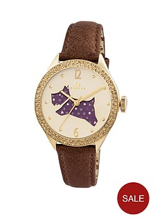radley-radley-yellow-gold-case-with-crystal-set-bezel-brown-leather-strap-ladies-watch