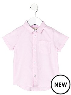 river-island-mini-boys-short-sleeve-pink-oxford-shirt