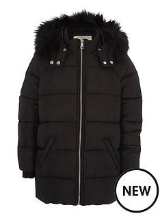 river-island-girls-black-fur-trim-hooded-padded-jacket