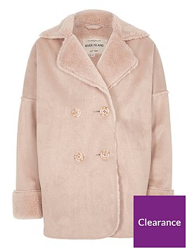 river-island-girls-pink-faux-shearling-coat