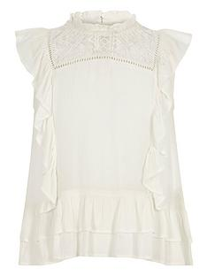 river-island-girls-cream-frill-lace-insert-shell-top