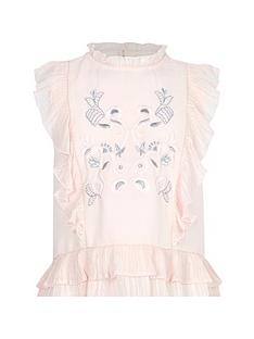 river-island-girls-pink-frill-high-neck-embroidered-top