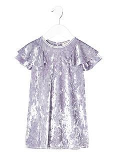 river-island-mini-girls-purple-velour-frill-shift-dress