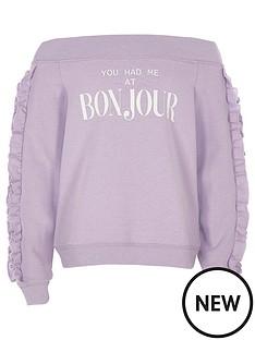 river-island-girls-purple-bardot-lsquobonjourrsquo-sweatshirt