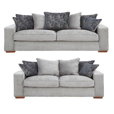 aria 3seater 2seater scatterback fabric sofa set buy and save