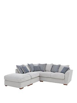 Very Bloom Fabric Left-Hand Corner Group Sofa Bed Picture