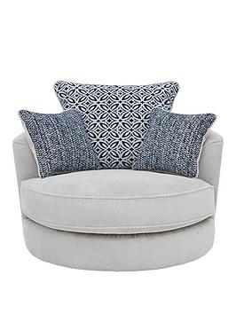 Very Bloom Fabric Swivel Chair Picture
