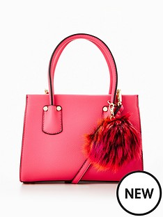 v-by-very-micro-mini-tote-with-pom-pomsnbsp--pink