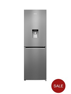 hisense-rb381n4wc1-60cm-wide-frost-free-fridge-freezer-with-water-dispenser-stainless-steel-look