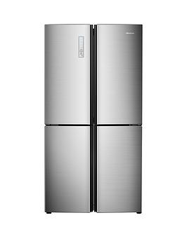 Hisense   Rq689N4Ac1 91Cm Wide Total Non Frost American Style Multi-Door Fridge Freezer - Stainless Steel Look (Doorstep Delivery Only)