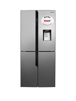 Hisense   Rq560N4Wc1 79Cm Wide Total Non Frost American Style Multi-Door Fridge Freezer With Water Dispenser - Stainless Steel Look (Doorstep Delivery Only)