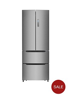 hisense-rf528n4ac1-70cm-wide-frost-free-french-door-style-fridge-freezer-next-day-delivery--nbspstainless-steel-look