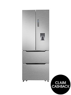 hisense-rf528n4wc1-70cm-wide-total-non-frost-french-door-style-fridge-freezer-with-water-dispenser-stainless-steel-look