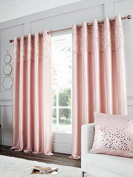 Catherine Lansfield Catherine Lansfield Glitzy Sequin Lined Eyelet Curtains Picture