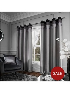 catherine-lansfield-chicago-faux-silk-eyelet-curtains