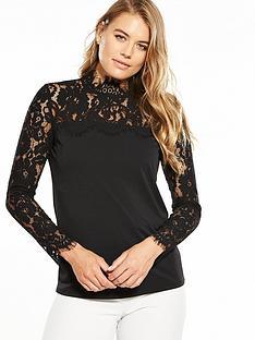 v-by-very-lace-yoke-long-sleeve-top-black