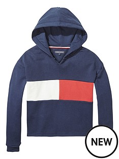 tommy-hilfiger-girls-flag-cropped-hoodie