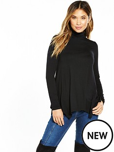v-by-very-roll-neck-swing-top