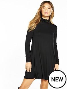v-by-very-roll-neck-swing-dress