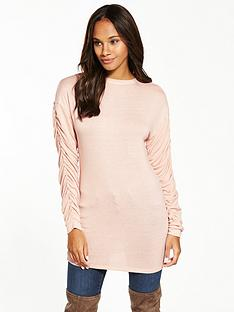 v-by-very-ruched-sleeve-snit-tunic