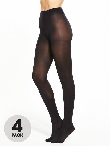 pretty-polly-4-pack-60-denier-opaque-tights-blacknbsp
