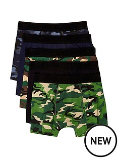 river-island-5-pack-camo-print-trunks