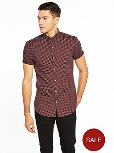 river-island-short-sleeve-ditsy-print-shirt