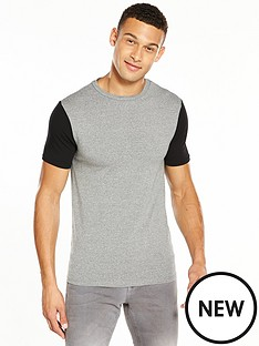 river-island-muscle-fit-blocked-tshirt