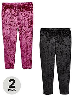 mini-v-by-very-girls-2-pack-velvet-leggings