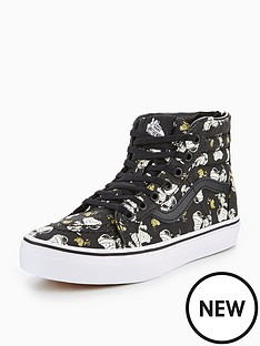 vans-vans-peanuts-uy-sk8-hi-zip-mummies-glow-in-the-dark-junior-trainer