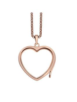 Anais Anais Rose Gold Plated Silver Locket And Chain