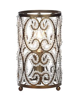 beaded-antique-brass-table-lamp