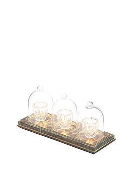 Decorative 3Light Cloche Table Lamp