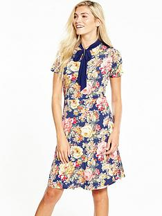 v-by-very-bow-tie-printed-dress