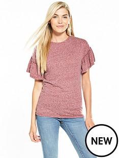 v-by-very-frill-sleeve-slub-t-shirt-berry