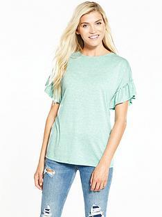 v-by-very-frill-sleeve-slub-t-shirt