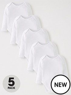 mini-v-by-very-baby-unisex-5-pack-long-sleeve-bodysuits-white