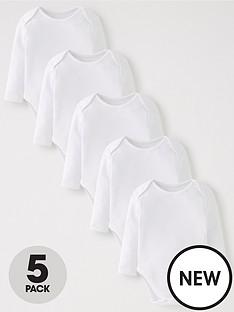 mini-v-by-very-baby-unisex-5pk-white-bodysuits