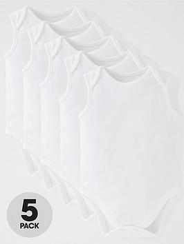 mini-v-by-very-baby-unisex-5-pack-sleeveless-bodysuits-white