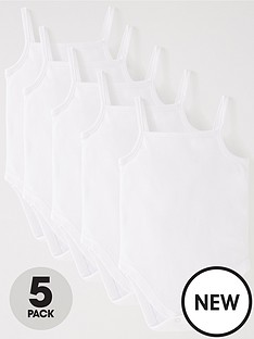 v-by-very-baby-unisex-5-pack-strappy-vests-white